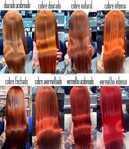 nome do cabelo ruivo e tipo