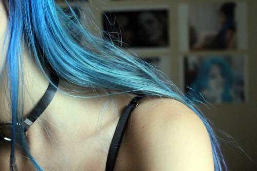 imagens de cabelos azuis do tumblr