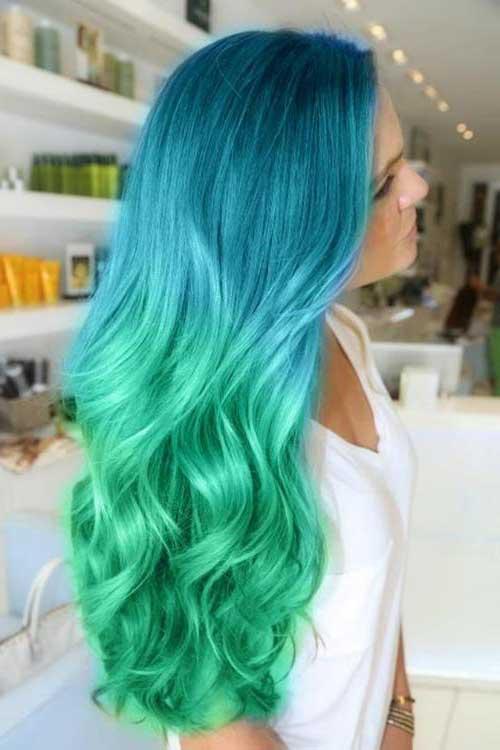 cabelo com luzes de sereia