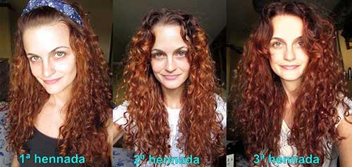 cabelo ruivo com henna