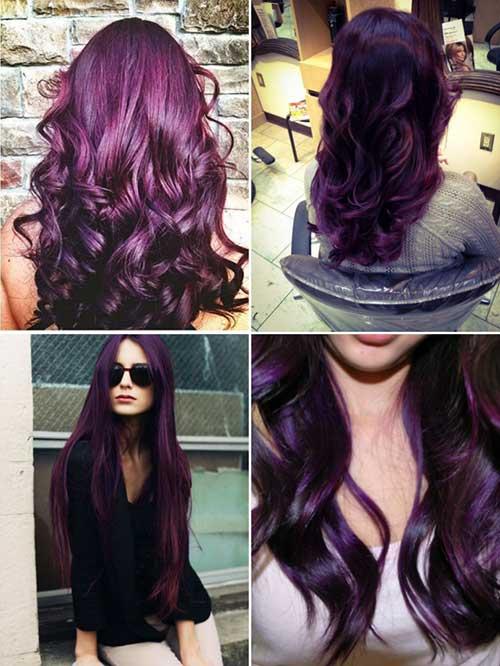 cabelo vinho na cor violeta