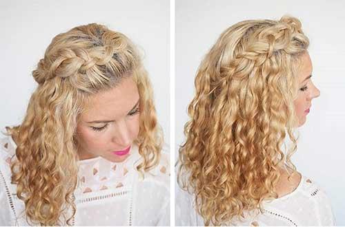 penteado volumoso com trança