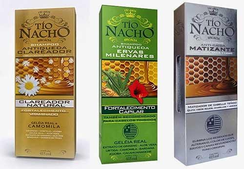 shampoo tio nacho todos os produtos