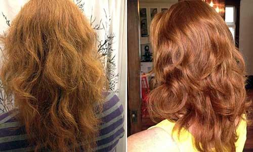 fotos de antes e depois de cabelos tratados com vinagre de maça