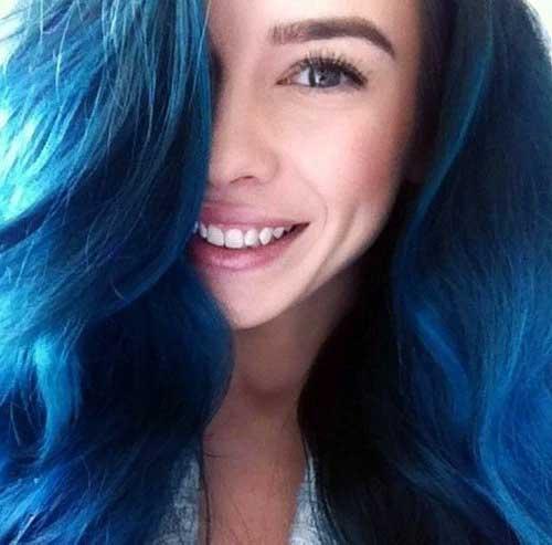 tinta azul para cabelo de mulher
