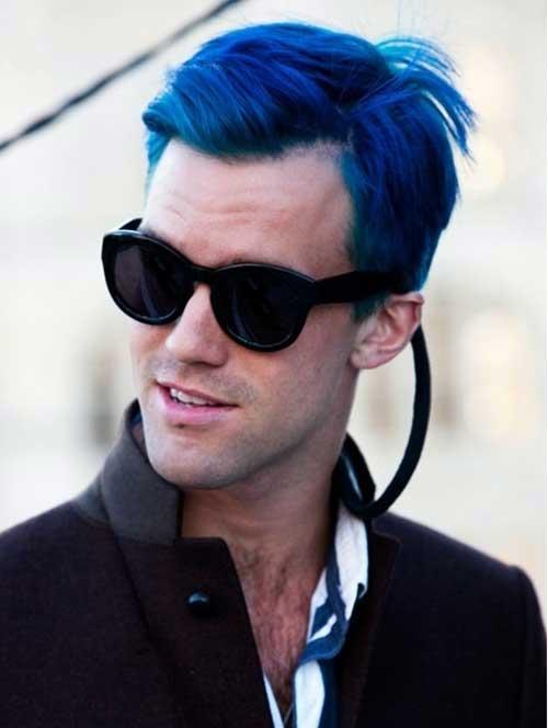 tinta azul para cabelo de homem