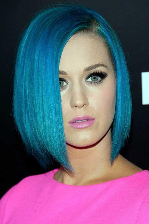 cabelo azul turquesa da perry