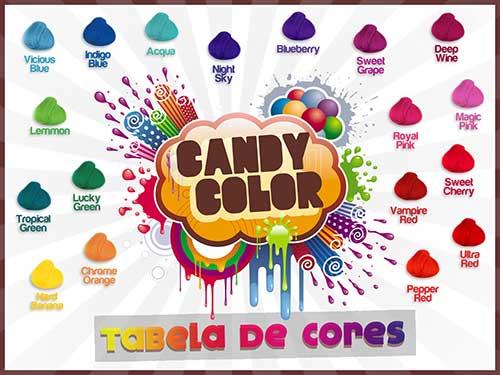 tabela com nomes de cores da candy color