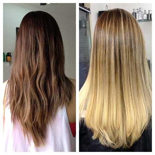 cabelo seco com mechas loiras