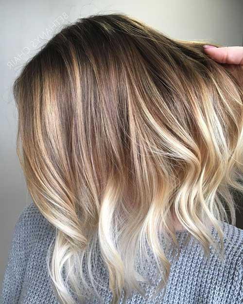 balaiagem nos cabelos curtinhos