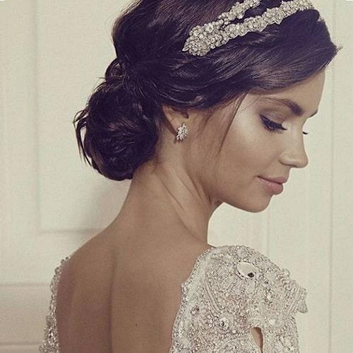 coque de franja e tiara pra casar