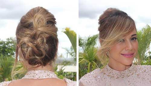 penteado tipo coque com topete para casamento