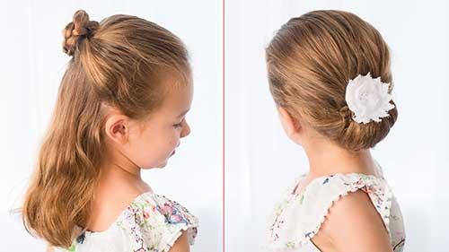 penteado tipo coque para meninas