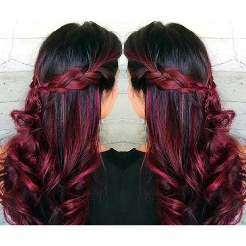 penteado e cor especial de cabelo