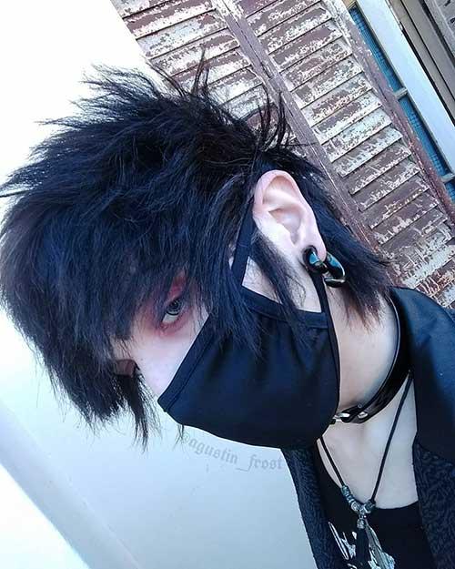 cabelo emo preto masculino