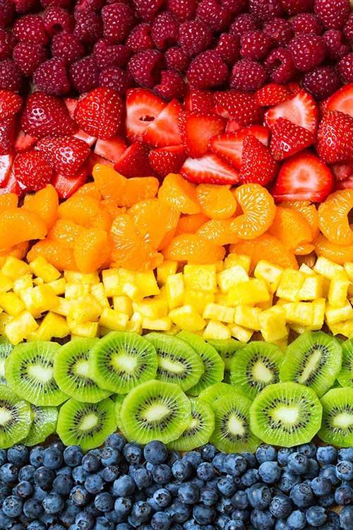 cura pela natureza com frutas