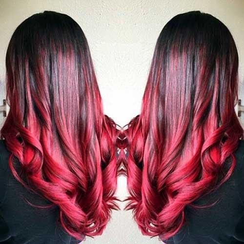 cores intensas no cabelo preto