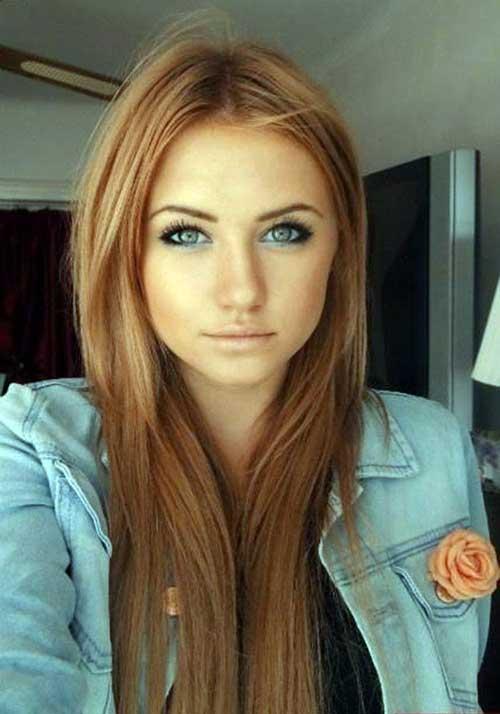 cabelo loiro escuro morango acobreado