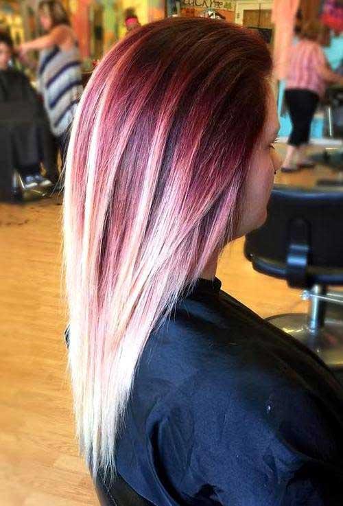 cabelo alisado loiro com cores