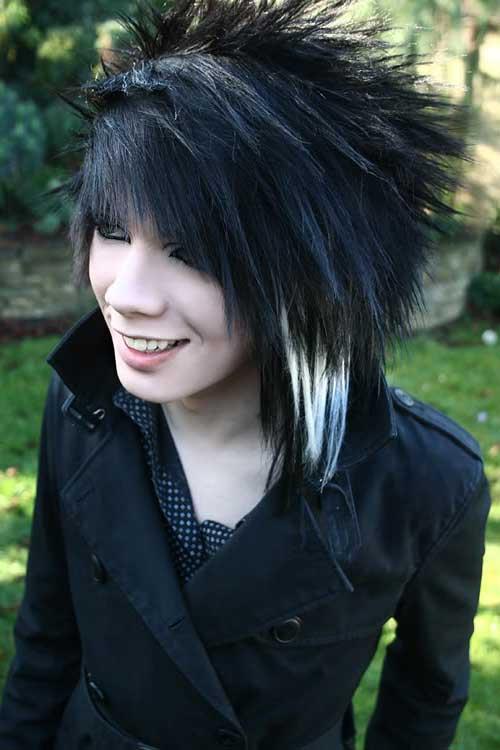 cabelo longo com ponta branca
