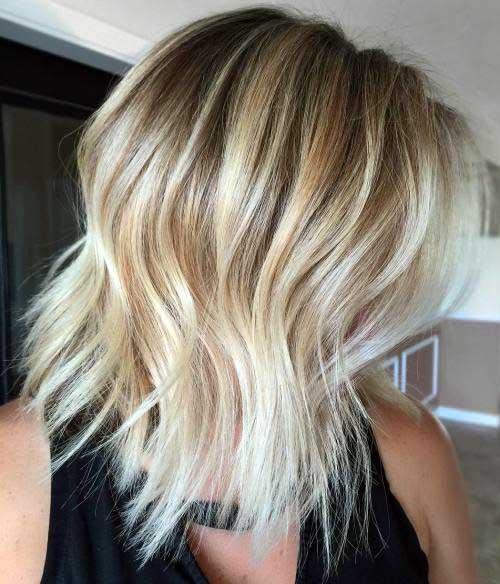 corte de cabelo bob iluminado