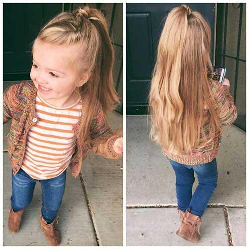 penteado infantil com cabelo longo