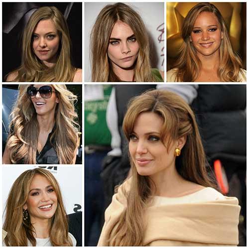 morenas com cabelo loiro mais escuro natural ou tingido