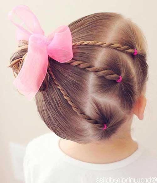 penteado infantil para festa em menina de cabelo curto