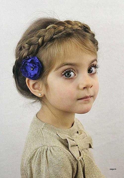 penteado fofo infantil pra formatura do ABC