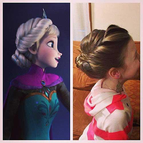 penteado inspirado em princesa frozen