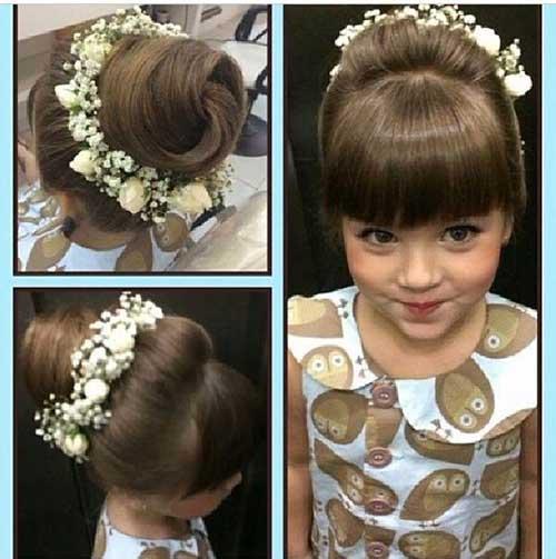 coque infantil com tiara e franja