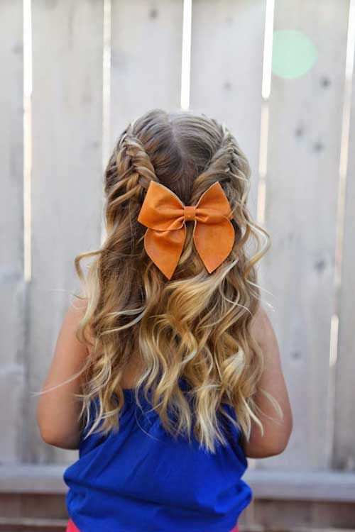 penteado infantil semi preso