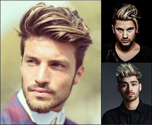 cabelo masculino com mechas loiras