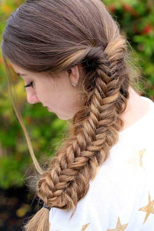 penteado infantil trança escama de peixe