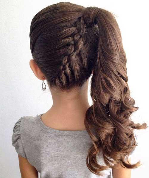 penteado de criança para festas