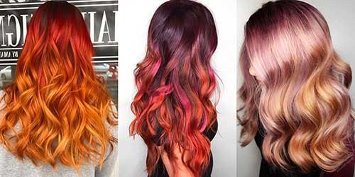 cabelo ombre hair em tres variaçoes diferentes de cor
