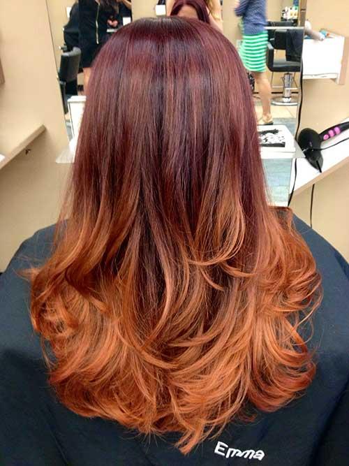 cabelo avermelhado acobreado