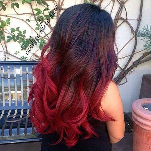 ombre hair vermelho intenso