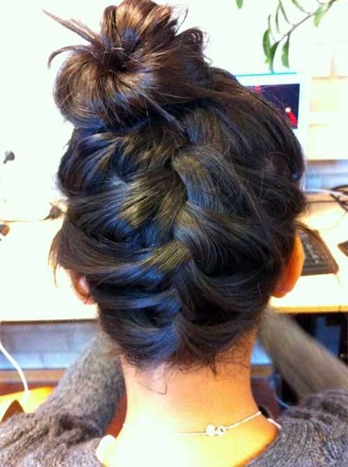 penteado tipo trança invertida
