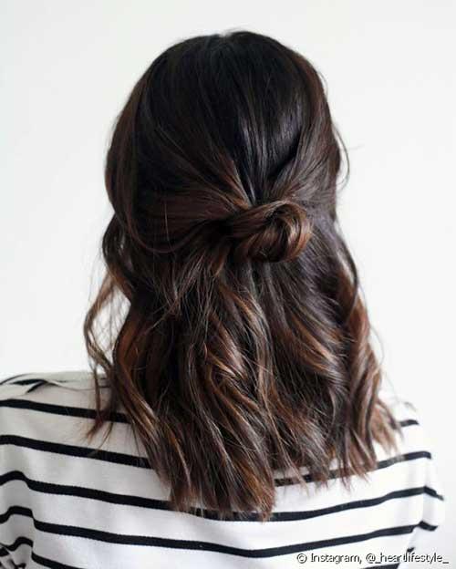 cabelo semi preso atrás com coque