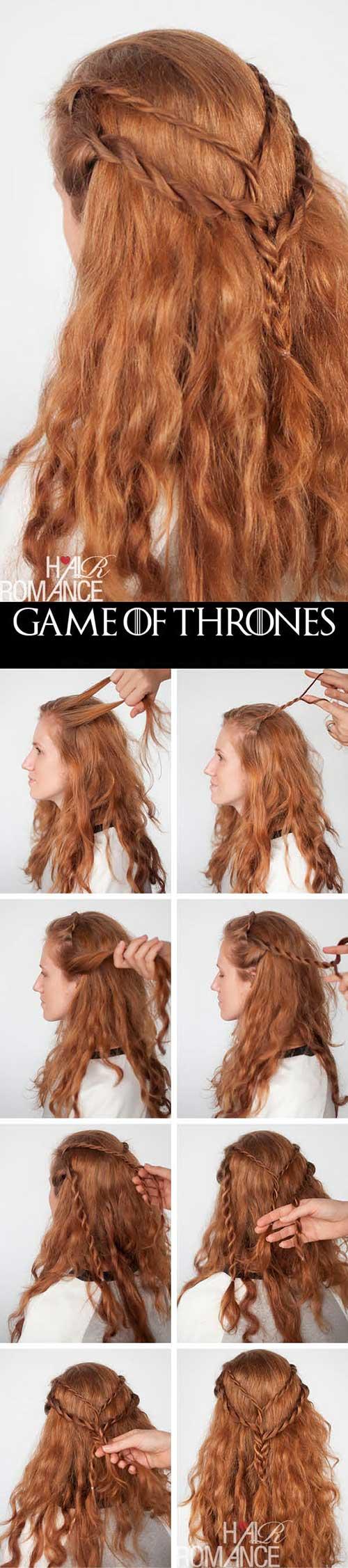 como fazer cabelo da cersei