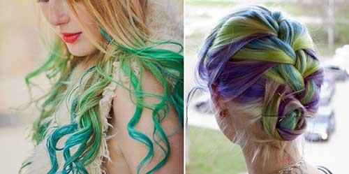 cabelos pintados com spray de tinta fantasia