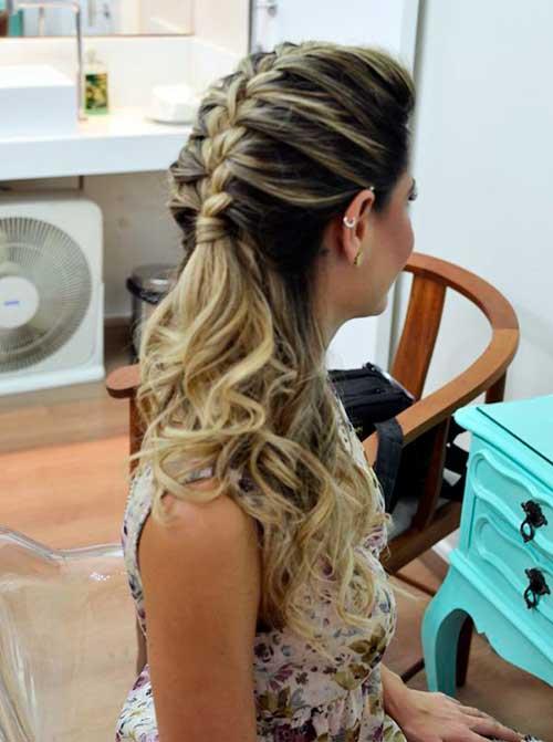 penteado para cabelo cacheado longo