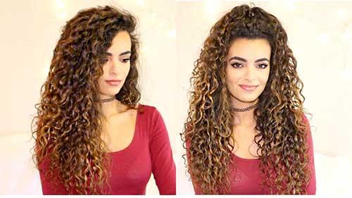 penteado para cabelo longo cacheado com ou sem franja