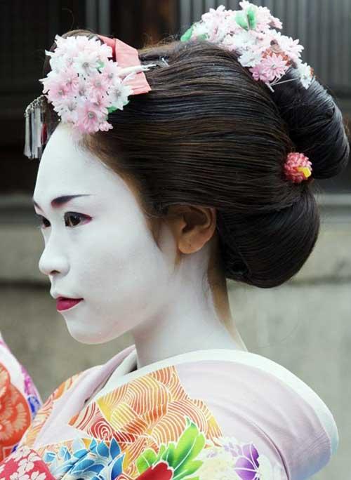 penteado japones tradicional