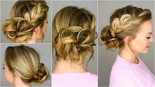 penteado tipo coque com trança