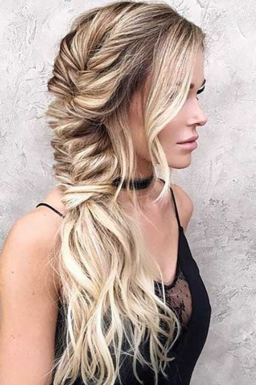 penteado simples para formatura em cabelo liso e solto