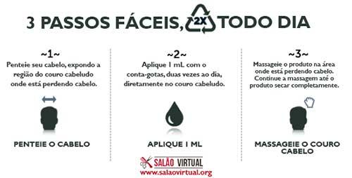 tutorial passo-a-passo de como utilizar minoxidil líquido ou spray