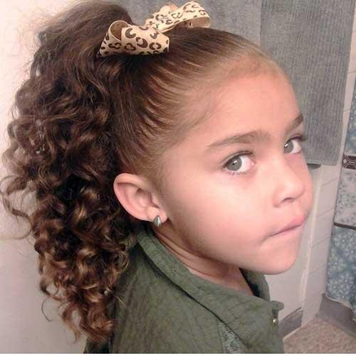 cabelo preso infantil com lacinho