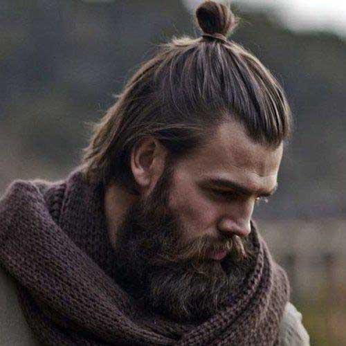coque japones masculino em cabelo medio